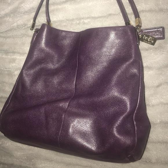 266d91fc Coach Bags | Purple Phoebe Leather 3 Compartment Hobo Bag | Poshmark
